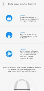 Xiaomi Mi Electric Toothbrush app screenshot
