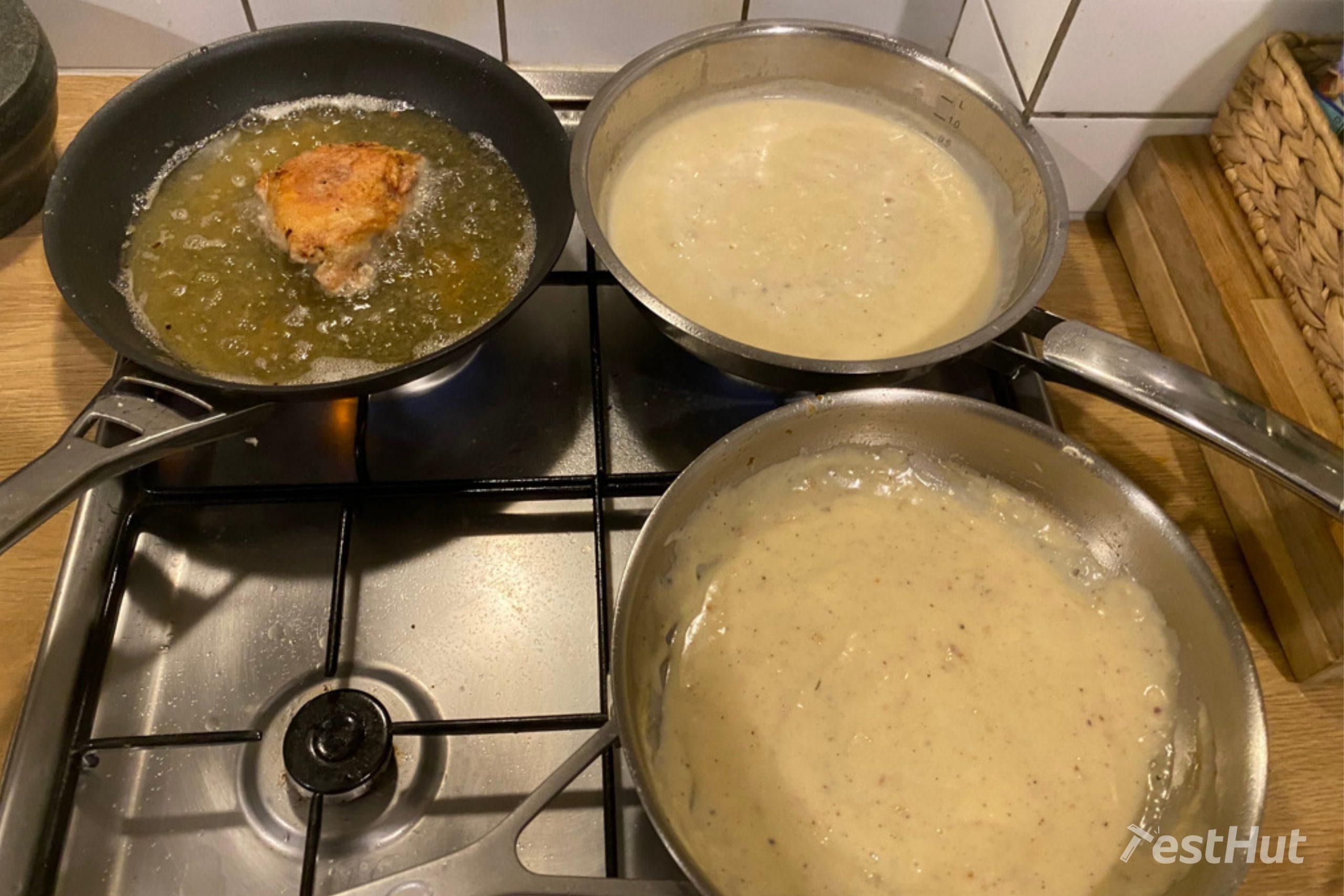 Frying pan versatility