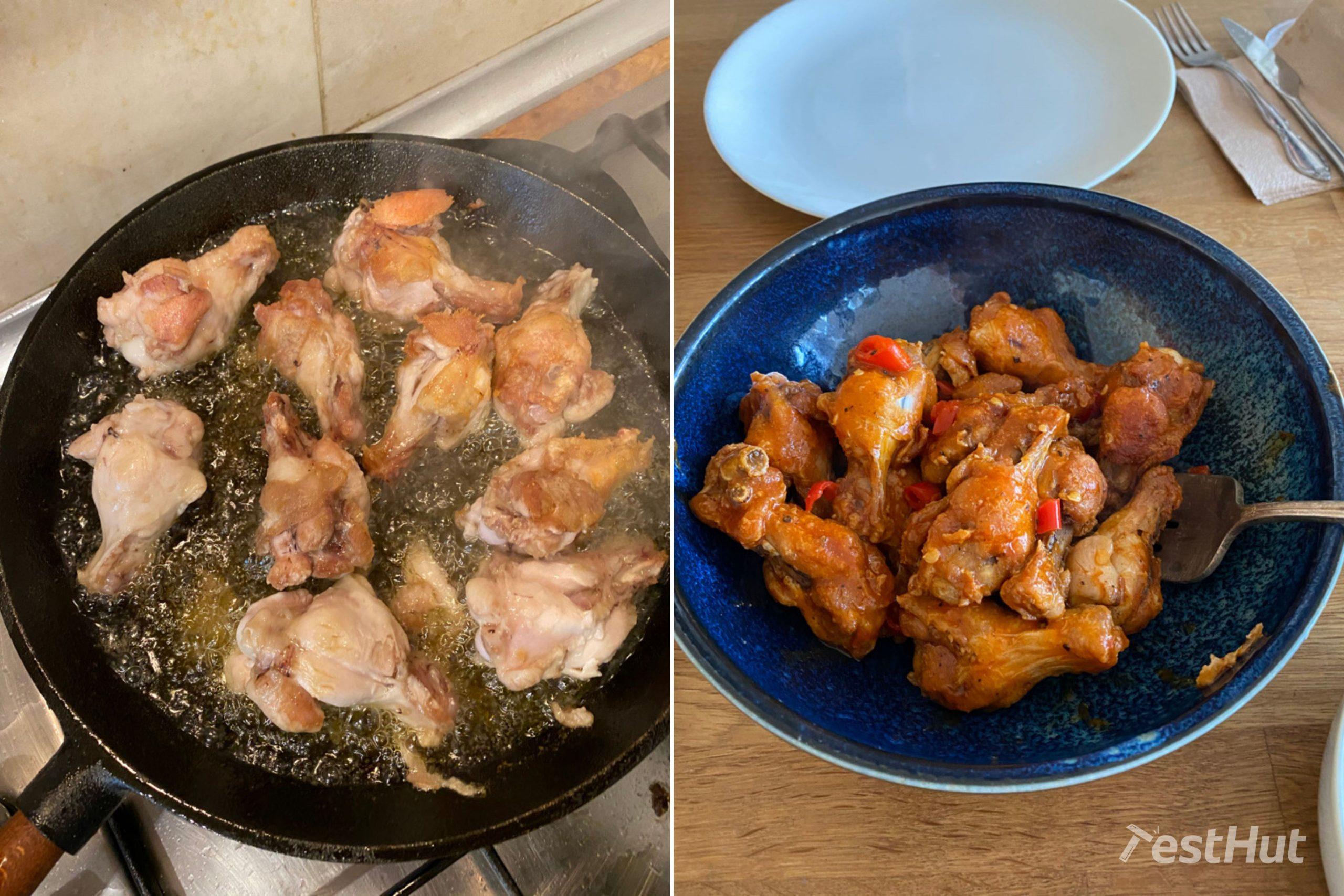 Skeppshult Professional Walnut Frying Pan cooking