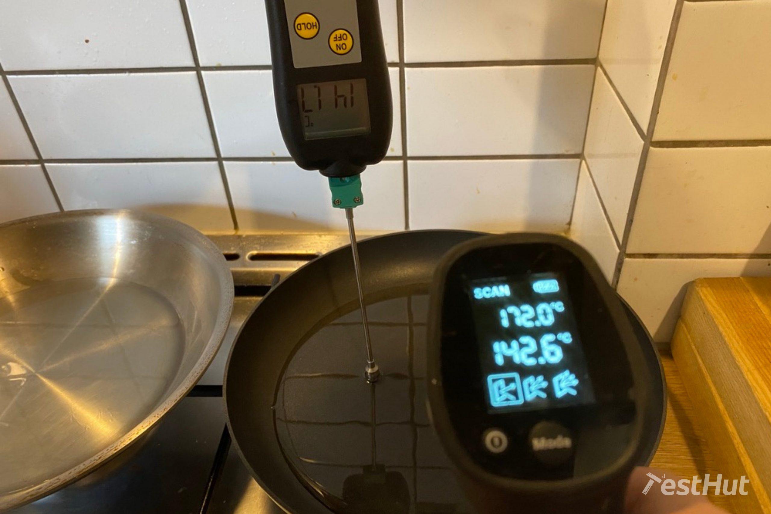 Frying pans temperature measurement test